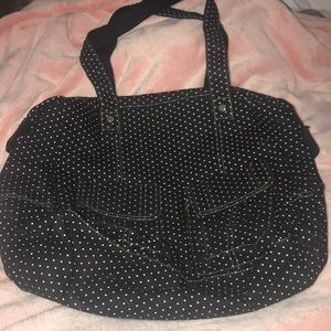 Thirty One Casual Cargo Black/White Polka Dots